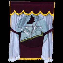 CORTINA LUXO BIBLIA VINHO