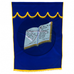 CORTINA SIMPLES BIBLIA AZUL ROYAL